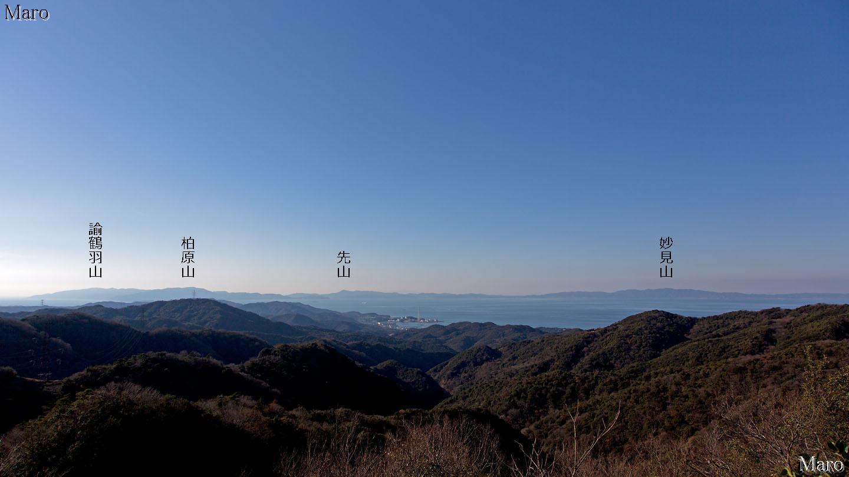 大福山から大阪湾を展望 小豆島...