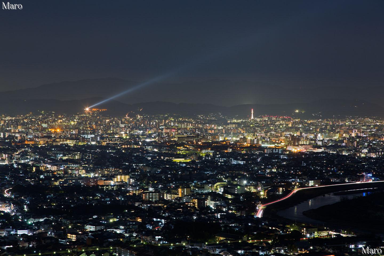 嵯峨嵐山 小倉山から「京都・東山花灯路」を望む 2013年3月