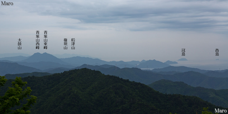 八ヶ峰を五波峠から登山 新緑の若丹国境尾根 福井・京都